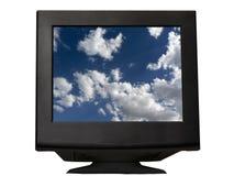 Zwarte monitor royalty-vrije stock afbeelding