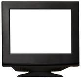 Zwarte monitor Stock Afbeeldingen