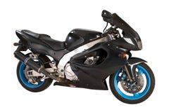 Zwarte motorfiets Stock Foto