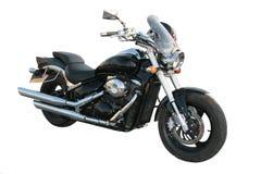 Zwarte motorfiets. stock foto