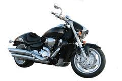 Zwarte motorfiets. royalty-vrije stock foto