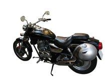 Zwarte motorfiets royalty-vrije stock afbeelding