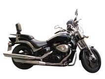 Zwarte motorfiets Stock Afbeelding