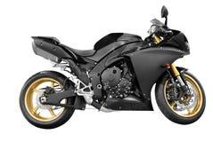 Zwarte motorfiets Royalty-vrije Stock Afbeeldingen