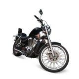 Zwarte motorfiets stock fotografie