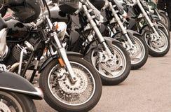 Zwarte Motorfietsen Stock Foto's