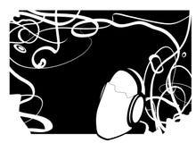 Zwarte muziekmens Stock Afbeelding