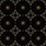 Zwarte naadloze textuur met lichte elementen Royalty-vrije Stock Afbeelding