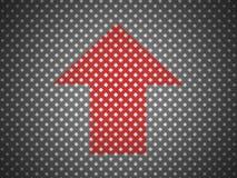 Zwarte netwerkachtergrond met rode pijl Royalty-vrije Stock Afbeeldingen