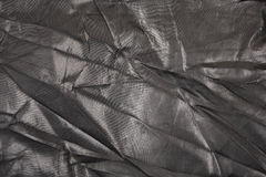 Zwarte nylon stoffenachtergrond Royalty-vrije Stock Afbeelding