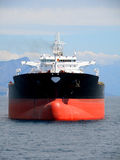 Zwarte olietanker Royalty-vrije Stock Foto's