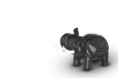 Zwarte olifant status Royalty-vrije Stock Foto's