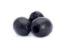 Zwarte olijfclose-up royalty-vrije stock afbeelding