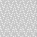 zwarte onregelmatige rond gemaakte lijnen op witte achtergrond, vectorpatroon Stock Afbeelding