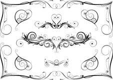 Zwarte ontwerpelementen Royalty-vrije Stock Afbeeldingen