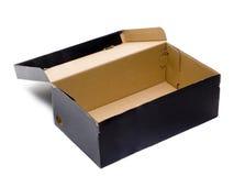 Zwarte open doos Royalty-vrije Stock Afbeelding