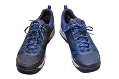 Zwarte openlucht geïsoleerde tennisschoenen Stock Afbeeldingen
