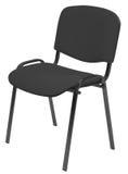 Zwarte opgevulde stoel Stock Foto's