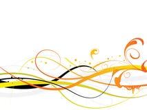 Zwarte oranje achtergrond Stock Foto's