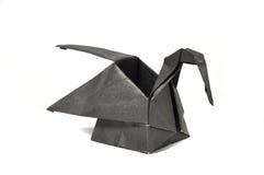 Zwarte origamizwaan Royalty-vrije Stock Afbeelding