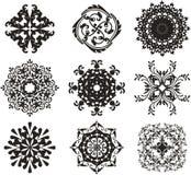 Zwarte ornamentillustratie Royalty-vrije Stock Afbeeldingen