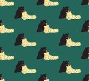 Zwarte panter en Luipaardminnaar op Groene Achtergrond Vector illustratie Royalty-vrije Stock Afbeeldingen
