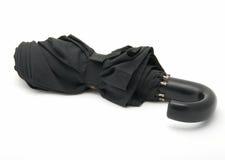 Zwarte paraplu stock afbeeldingen