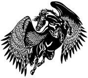 Zwarte pegasus Royalty-vrije Stock Afbeelding