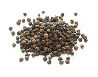 Zwarte peper, zwarte peperbollen, Indisch kruid royalty-vrije stock foto