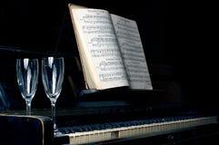 Zwarte piano Royalty-vrije Stock Afbeeldingen
