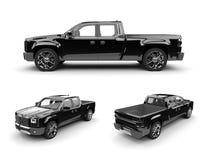 Zwarte pick-up Stock Afbeelding