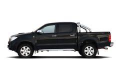 Zwarte pick-up stock foto