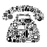Zwarte pictogrammen vector illustratie