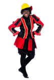 Zwarte Piet acting as a builder Stock Photo