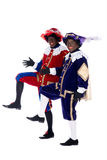 Zwarte Piet is acting funny Stock Image