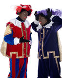 Zwarte Piet is acting funny Royalty Free Stock Photography