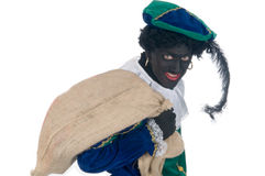 Zwarte Piet with bag Royalty Free Stock Photography