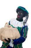 Zwarte Piet with bag Royalty Free Stock Photo