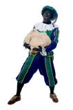 Zwarte Piet with bag Stock Photography