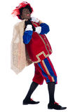 Zwarte Piet with a bag full of presents Royalty Free Stock Image