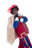 Zwarte Piet with a bag full of presents Royalty Free Stock Photography