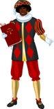 Zwarte Piet Black Pete with book Stock Photo