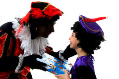 Zwarte Piet ( black pete) dutch character Stock Images