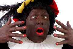 Zwarte piet ( black pete) typical Dutch Royalty Free Stock Photo