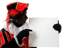 Zwarte Piet ( black pete) typical dutch character Royalty Free Stock Photo