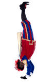 Zwarte Piet is doing a handstand Royalty Free Stock Image