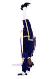 Zwarte Piet is doing a handstand Stock Images