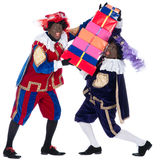 Zwarte Piet with a lot of presents Stock Image