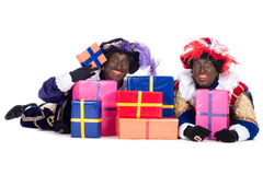 Zwarte Piet with a lot of presents Royalty Free Stock Photo
