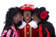 Zwarte Piet is in love Stock Image